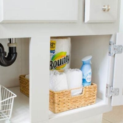 Best way to store toilet paper under the cabinet