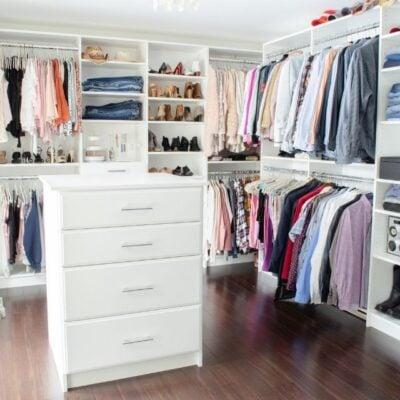 Best Features Walk in Closet Makeover