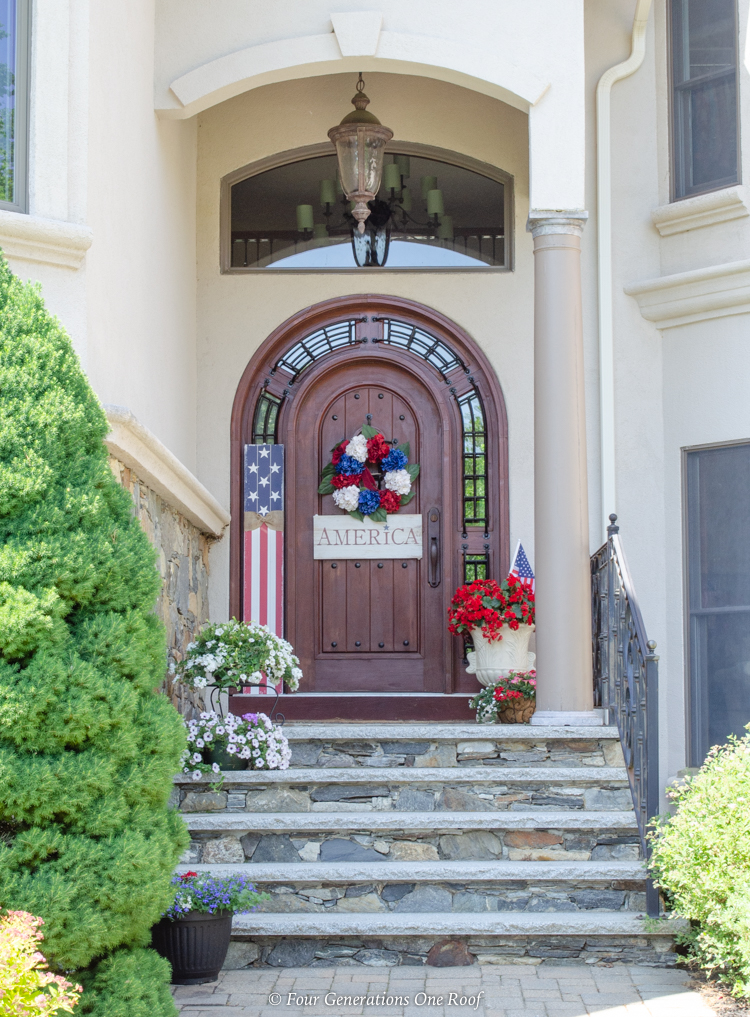 4th of July front door porch decorating ideas